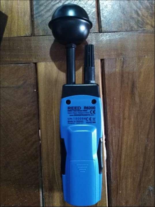 Termómetro de globo y bulbo húmedo WBGT y anemómetro de aspa - 0
