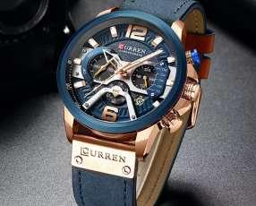 Reloj azul analógico cuartz cronógrafo