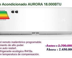 Aire acondicionado split aurora 18.000 btu