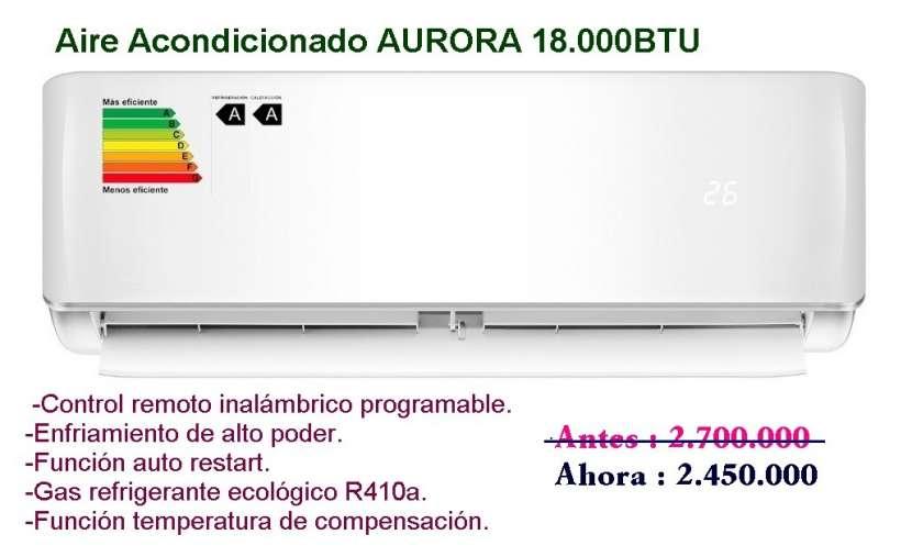 Aire acondicionado split aurora 18.000 btu - 0