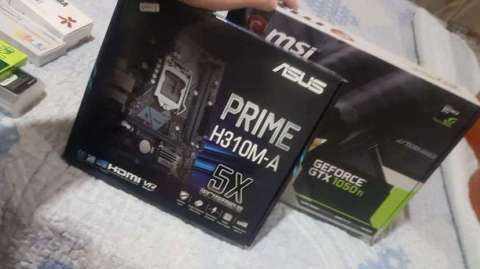 Tarjeta de video msi GTX 1050 ti placa madre Asus Prime H310M-A - 0