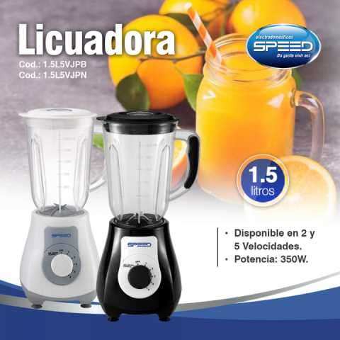 Licuadora SPEED 1.5LT. 5V. - 0