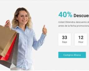 Tu sitio Web con 40% de descuento