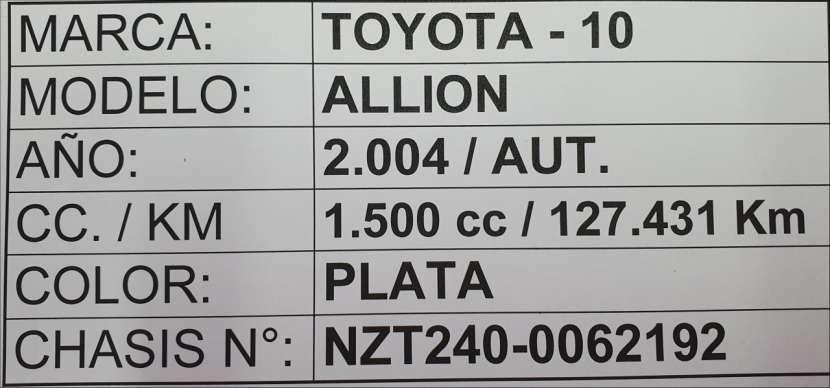 Toyota Allion 2004 motor 1.5 naftero automático 4x2 - 7
