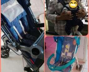 2 carritos y un canguro para bebé