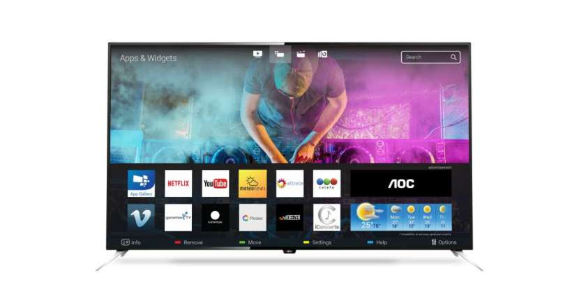 Tv aoc 50'' le50u7970 uhd 4k/usb/hdmi/digital/smar - 2
