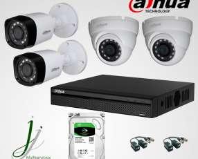 Instalación de 4 Cámaras 720P de Seguridad