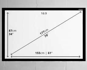 Pantalla para proyector automático 70 pulgadas 220v control