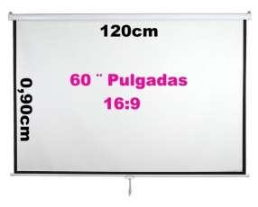 Pantalla para proyector automático 60 pulgadas 220v control
