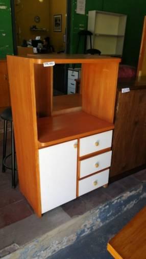 Mueble para microondas con 3 cajones