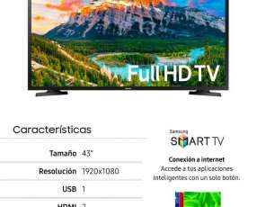 Smart tv Samsung de 43 pulgadas