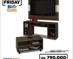 Rack mueble para tv natal 3 en 1