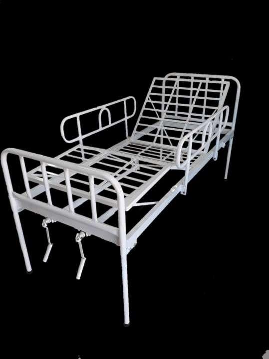 Cama hospitalaria nacional de 2 movimientos con colchón impermeable - 0
