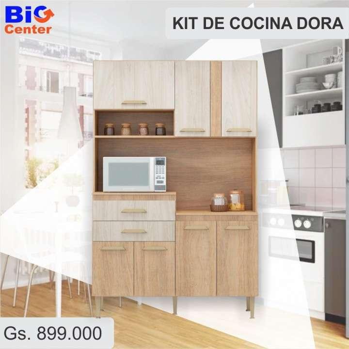 Kit de cocina dora 4 puertas naturalle - 0