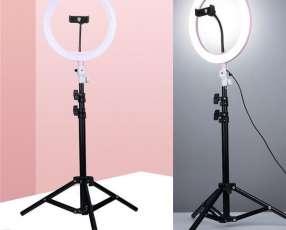 Luz para fotos con porta celular
