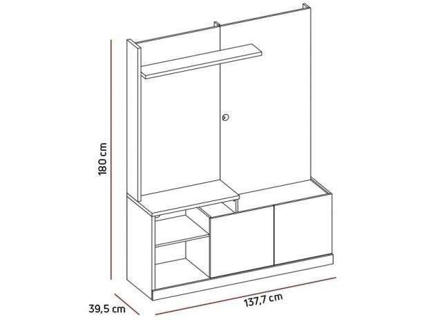 Mueble rack para tv de 55 pulgadas sofine vuriti havana - 1