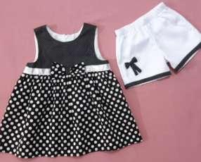 Vestido Blanco y Negro (6 años)