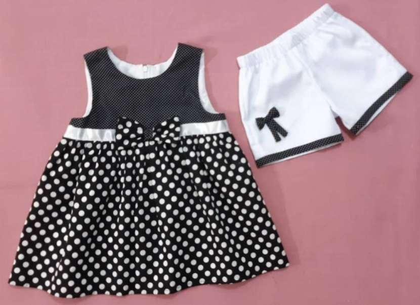 Vestido Blanco y Negro (6 años) - 0
