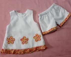 Vestido de Flores Anaranjadas (2 años)