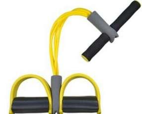Cuerda elástica con pedal para tonificar