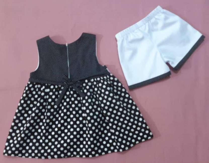 Vestido Blanco y Negro (6 años) - 1