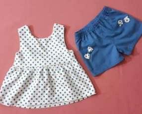 Vestido con Lunares Azules (2-3 años)