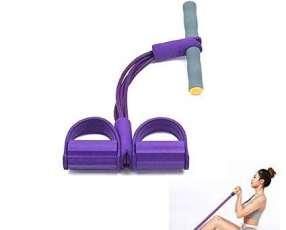 Cuerda elastica con pedal para tonificar