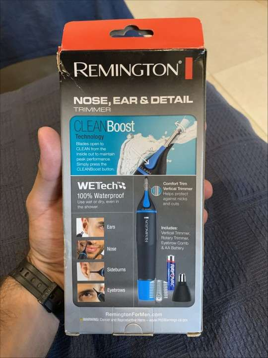 Afeitadora remington a pila, para nariz, oreja y ceja - 1