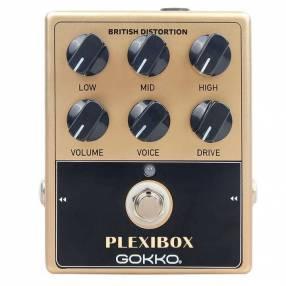 Pedal de distorsión para guitarra eléctrica Gokko Plexibox