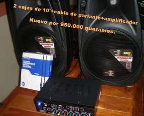 Amplificador + 2 cajas