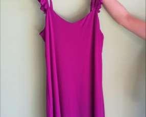 Vestido tipo túnica color magenta