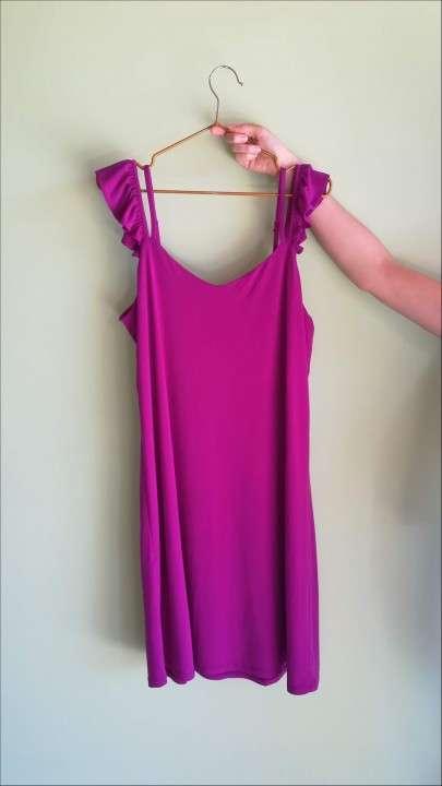 Vestido tipo túnica color magenta - 0