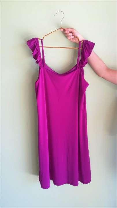 Vestido tipo túnica color magenta - 1