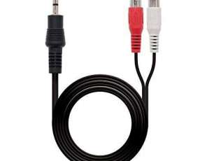 Cable Aux 3.5 a RCA Audio Rojo Blanco 3 Metros con Garantia