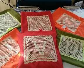 Almohadas con croche