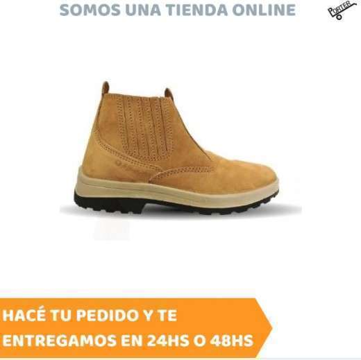 Zapato Worksafe Mbarete marrón sin cordón - 0