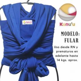 Fular portabebé color azul francia