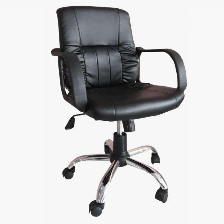 Silla secretaria patas cromadas A666S - 0