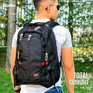 Mochila total comfort KAM-103 negro - 2