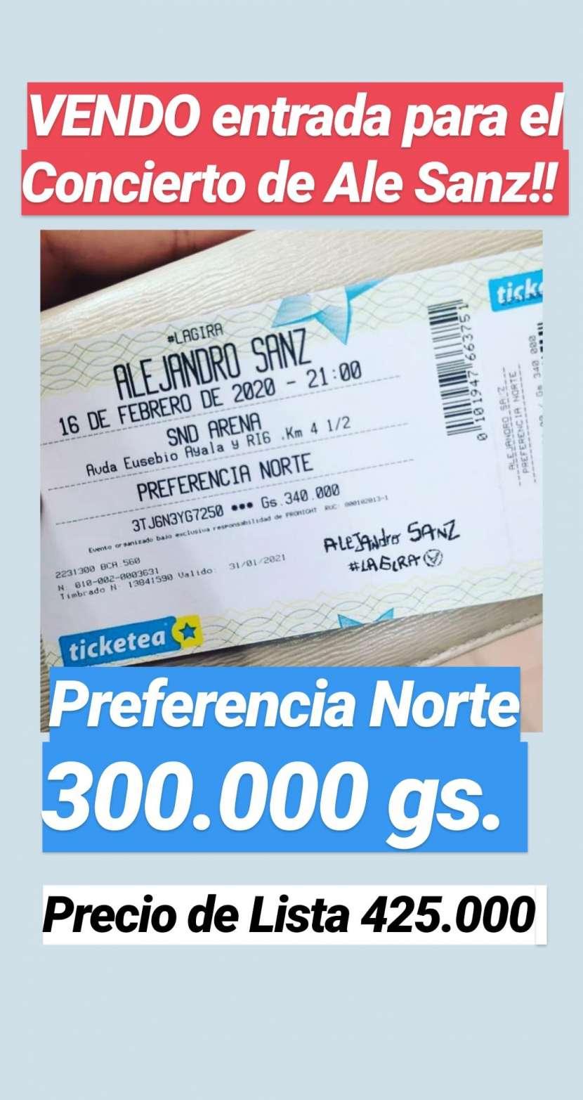 Entrada al Concierto de Alejandro Sanz Sector Preferencia Norte - 0