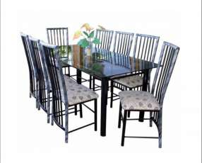 Juego de comedor c/ 8 sillas imperial