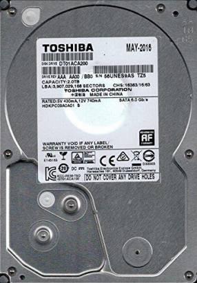 Disco Duro Toshiba 2 TB para PC
