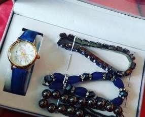Reloj 3 pulseras caja