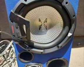 Radio Pioneer + Caja Sony + Amplificador Roadstar