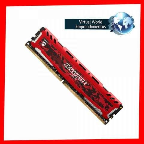 Memoria ram crucial 4gb 2400mhz ballistix gaming rojo