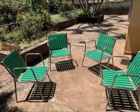 Juego sillas de patio