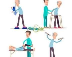 Sesión de fisioterapia a domicilio