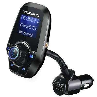 Transmisor FM bluetooth para coche manos libres cargador usb - 0