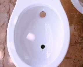 Bidet y lavatorio