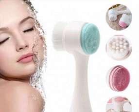 Cepillo limpiador dual facial